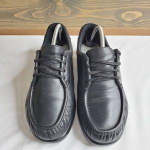 SAS womens Take Time Lace up Loafers, black, sz 11